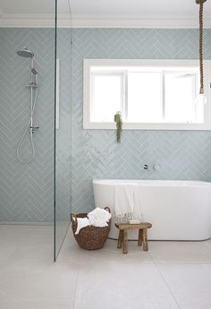 12 Dreamy Bathroom Tile Trends in 2017 is part of Luxury bathroom tiles 12 BATHROOM TILE TRENDS for 2017 Bathroom tiles are practical, durable and can help you to create great design features An i - Bathroom Renos, Laundry In Bathroom, Bathroom Flooring, Bathroom Renovations, Bathroom Grey, Family Bathroom, Boho Bathroom, Glass Tile Bathroom, Bathroom Colors