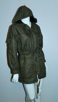 vintage 1970s quilted parka / olive Army coat Beged- Or Bis / coated c – Retro Trend Vintage