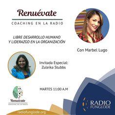 HOY Martes 11am RENUEVATE COACHING EN LA RADIO...estamos online por la aplicación Tune In desde tu celular o por http://ift.tt/1Abi79t o por http://ift.tt/1F8bzd1.  Marbel Lugo hoy como invitad@ especial  Zuleika Stubbs No te lo pierdas! Puedes escuchar los programas anteriores en ivoox-> podcasts-> renuevate coaching en la radio.  Síguenos en las redes: Instagram/Facebook- Renuevate Coaching en la Radio Twitter- Renuevatedo #renuevate