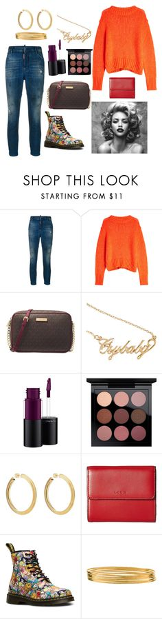 """""""Big kid at heart."""" by bunnisexy ❤ liked on Polyvore featuring Dsquared2, Markus Lupfer, Michael Kors, Hot Topic, MAC Cosmetics, Jennifer Fisher, Lodis, Dr. Martens and Jane Diaz"""