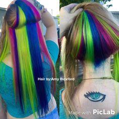 Pravana Rainbow hair by Amy Bickford. Paducah, KY