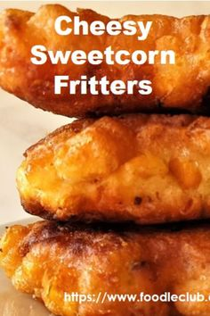 Sweetcorn fritters are a delicious treat. Crunchy outside with a soft fluffy cheesy inside, brimming with juicy pops of sweetcorn. Veg Dishes, Vegetable Dishes, Vegetable Snacks, Side Dishes, Savory Snacks, Tasty Snacks, Savoury Recipes, Appetizer Recipes, Appetizers