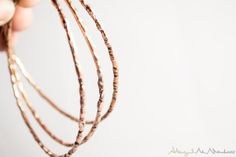 The Twig Bangle: A handcrafted, one of a kind copper bangle