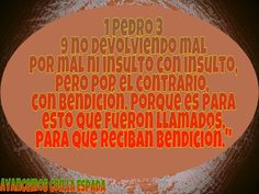 Avancemos con La Espada: No devolviendo mal por mal ni insulto con insulto,...