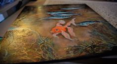 Peinture acrylique sur bois 40X40.