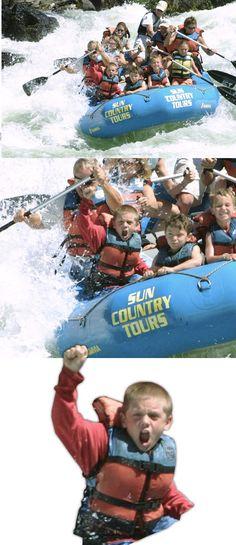 white water rafting...i wanna be this kid.