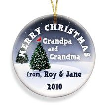 Cardinal Merry Christmas Personalized Ornament