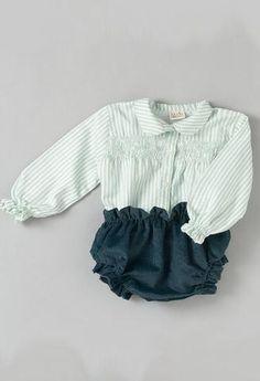 Conjunto cubrepañal Azul y Camisa de rayas Azules-Conjuntos bebé-KuiniCollection