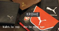 Accessories add to your attire. Get the best one from krome now. #krome #pumawallets #mensaccesories #fashionformen