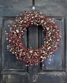 Americana Mix Berry Wreath  Patriotic Door by Designawreath, $74.95