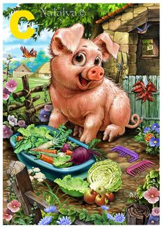 Excited to share this item from my shop: US Seller Cute Pig, Garden Vegetables DIY, Full Diamond Painting kit.