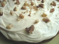 Carrot Cake with Cream Cheese Icing This recipe is delicious (from the reliable Edmond's Cook Book) and has walnuts, cinnamon, crushed pineapple and grated orange rind in the cake, which makes it extra special. Cream Cheese Icing, Cake With Cream Cheese, New Zealand Food And Drink, Crushed Pineapple, Carrot Cake, Carrots, Sweet Tooth, Pudding, Yummy Food