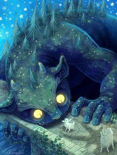 Nicola L Robinson Illustration Billy Goats Gruff, Troll Bridge ...