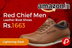 Amazon #LightningDeal is offering 55% off on Red Chief Men's Leather Boat Shoes at Rs.1663 Only. Casual, Leather Shoes. 60 days Product warranty against manufacturing defects.  http://www.paisebachaoindia.com/red-chief-men-leather-boat-shoes-at-rs-1663-only-amazon/