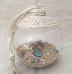 Beach in a Glass Coastal Ornament