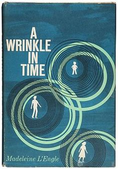 A Wrinkle in Time  by Madeleine L'Engle. A science fiction fantasy based on the mlath concept of the  tesseract (a fourth dimensional shape)  or a wrinkle in time.  Written similarly to the style of C.S. Lewis. 1963 #Newberry Medal