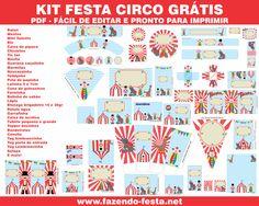 free printable-kit complete circus theme