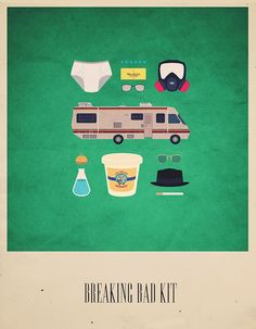 Breaking Bad Kit - Movies Hipster Kit, Alizée Lafon / Minimal Movies and series TV Poster