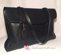 Vintage 80s Coach Envelope Portfolio Bag, 5190, Black, NYC  | eBay