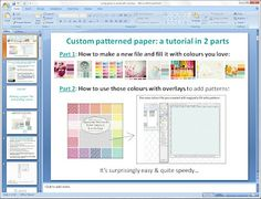 Mel Stampz: how to make your own custom coloured papers with gimp (which is free!)