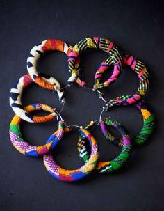 African print fabric earrings