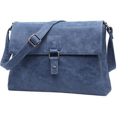 EVONTTE Vegan Leather ORIEL Natural Look Navy Satchel Bag (7,310 INR) ❤ liked on Polyvore featuring bags, handbags, purses, faux leather purses, navy purse, blue purse, handbag satchel and purse satchel