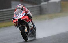 Download wallpapers Andrea Dovizioso, MotoGP, Ducati Desmosedici GP16, 4k, Italian motorcycle racer, rain, races in the rain