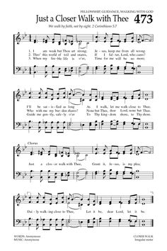 Just A Closer Walk With Thee. Baptist Hymnal 2008 page 648 Gospel Song Lyrics, Christian Song Lyrics, Gospel Music, Christian Music, Music Lyrics, Music Songs, Christian Movies, Christian Life, Hymns Of Praise