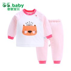 89a09f485021 Cotton Winter Suit Cat Outfits Baby Girl Clothing Set Animal Bebes Suit  Warm Tops Pants Infant Newborn Baby Winter Clothes Sets