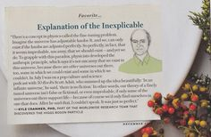 Kyle Cranmer - Explanation of the Inexplicable. From Oprah Magazine.