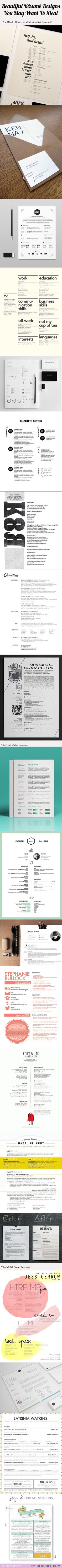 20 Beautiful Resume Designs You May Want To Steal…
