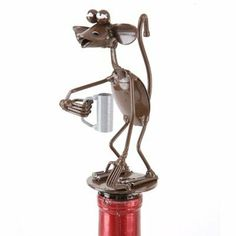 "Monkey Wine Stopper Spoonies by Richard Kolb by Spoonies Richard Kolb. $11.00. Monkey Wine Stopper Spoonies by Richard Kolb. Monkey Wine StopperSpoonies by Richard KolbThis charming little monkey will add tons of fun to your wine bottle! A great gift idea, this new stopper is made from recycled spoons!Made from recycled spoons and cork. Measures 3"" x 2"" x 5.5"""