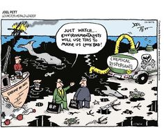 Environment Cartoons: Environmentalists and the Oil Spill