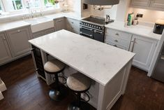Kitchen of the week… Located in Widbury, Ware showcasing the Monaco Carrera - Rock and Co Granite Ltd Marble Quartz, Handmade Kitchens, Monaco, Granite, Carrara, Rock, Design, Home Decor, Homemade Home Decor