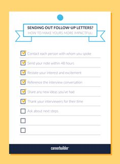 Here's how to make your follow-up note more impactful.