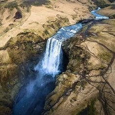Skogafoss a stunning waterfall in beautiful Iceland.  #aerialphotography #dronephotography #dronestagram #skogafoss #waterfall #aerial #iceland #flying #aerialview #droneart #dronephoto #wasserfall #island #luftaufnahme #dronewise #droneventures #aerial_creativity #aerialshot #drone_pictures #landscape #landschaft