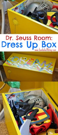 Dr. Seuss Room: Toy Box Makeover