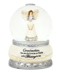 This 'Grandmother' Angel Water Globe is perfect! #zulilyfinds