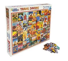White Mountain Puzzles - Travel Dreams - 1,000 Piece Jigsaw Puzzle, 2015 Amazon Top Rated Jigsaw Puzzles #Toy