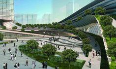O projeto de Andrew Bromberg, do escritório de arquitetura Aedas, está programado para se tornar a maior estação ferroviária subterrânea de alta velocidade do mundo e deve ser concluída até 2015. É o Express Rail Link West Kowloon Terminus. Além dessa parte ousada do projeto o telhado da estação vai agir como uma passarela e um parque para os visitantes do lugar.