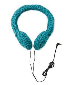 umhäkelte Kopfhörer