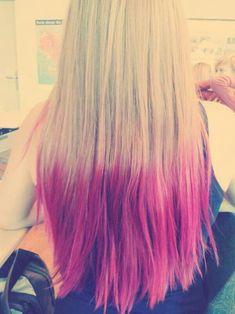 pink dipped hair