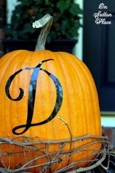 Monogram pumpkin