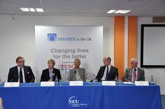 The Panel launch Grameen. From L to R - Benny Higgins, Prof Pamela Gillies, Prof Yunus, John Swinney and Martin Cheyne.