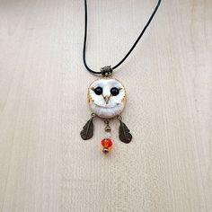 Barn-owl pendant women's jewelry men jewelry от ViaLatteaArt
