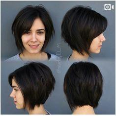 Best hair cuts lacio lob ideas - MY World Hair Styles 2016, Medium Hair Styles, Curly Hair Styles, Medium Curly, Short Thin Hair, Short Hair Cuts, Pixie Cuts, Pretty Hairstyles, Bob Hairstyles