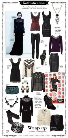 Love the super femm lace. Lbd, Boho Outfits, Cute Outfits, Goth Chic, Corporate Goth, Goth Look, Estilo Rock, Vogue, Up Girl