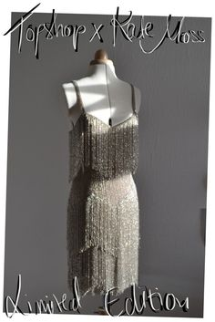 Buy my stunningly beautiful flapper dress from a limited collection between Topshop & Kate Moss. 1920s Fashion Dresses, Vintage Fashion, 20s Mode, Tassle Dress, Roaring 20s Fashion, 1920s Looks, Fringe Flapper Dress, Evening Dresses, Prom Dresses