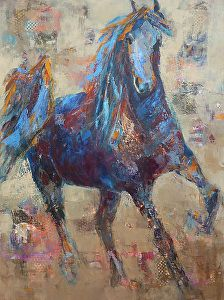 Emancipated by Cheryl Waale Mixed Medium ~ 48 x 36 Modern Art Paintings, Paintings I Love, Animal Paintings, Horse Paintings, Horse Drawings, Art Drawings, Brick Art, Pictures To Draw, Horse Pictures
