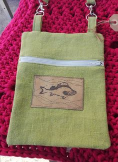 Linen over shoulder bag, the fish is stamped on Snap Pap Burlap, Reusable Tote Bags, Stamp, Shoulder Bag, Fish, Hessian Fabric, Stamps, Shoulder Bags, Pisces